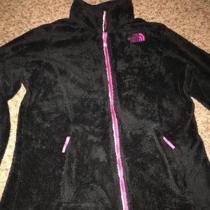 Girls black-fuchsia zip,fleece, size L 12/14